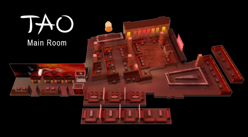 Tao Nightclub Main Room Floorplan