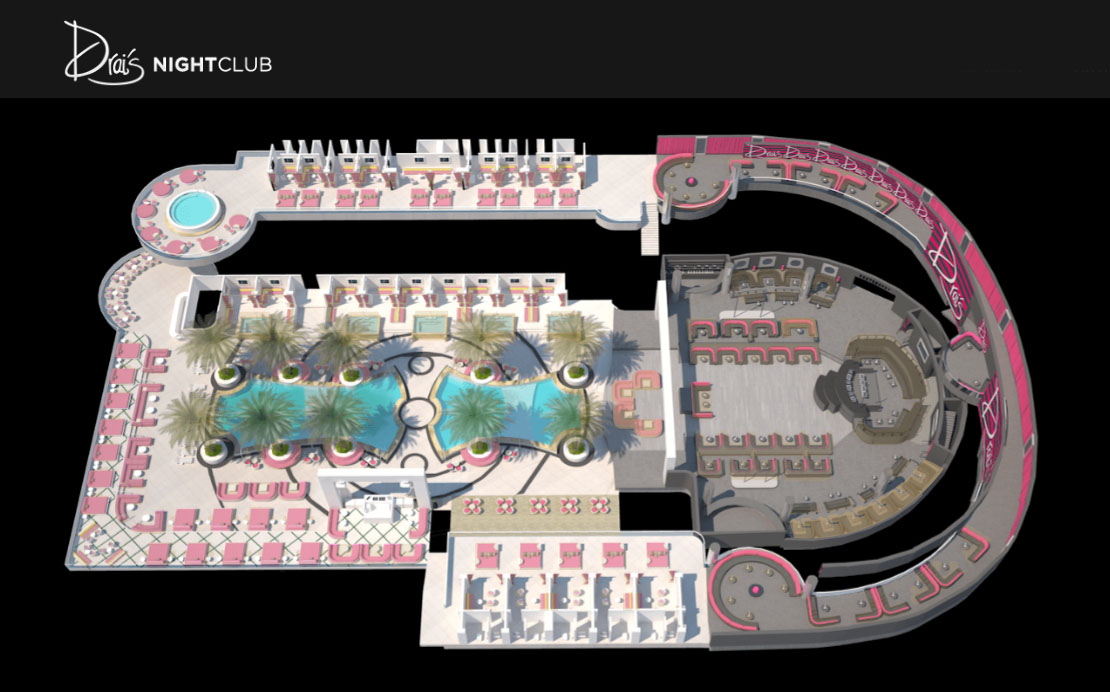 Drais Nightclub Table Layout