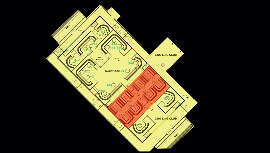 Hakkasan Nightclub Ling Ling Room Table Layout