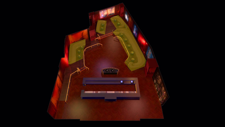 Marquee Nightclub BoomBox Room Layout