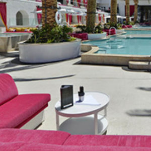 Drais Beach Club Pool Deck Booth Bottle