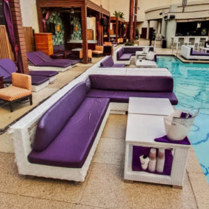 Marquee Dayclub Poolside Daybed Bottle Service